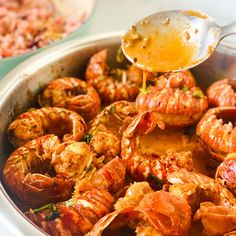 Sweet with a chilli hit, these crayfish tails are delicious! Crayfish Tails, Savory Rice, Healthy Plate, Fish Stock, Sriracha Sauce, Chilli Flakes, Fresh Cream, Food Words, Coriander