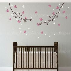 Butterfly Branches Wall Decal #SimpleShapes