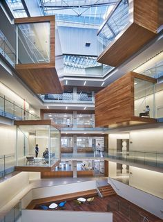 Office Building The collaborative workspace of the ALLEN INSTITUTE dazzles with its' atrium … Cabinet D Architecture, Interior Architecture, Interior Design, Seattle Architecture, Amazing Architecture, Museum Architecture, Simple Interior, Nordic Interior, Interior Plants
