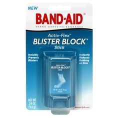 Prevent blisters, don't treat them. If you take only one piece of travel advice from me, let it be this: buy BAND-AID Friction Block sticks in bulk and put them in every bag and purse. Apply to the spots where your shoes (or other clothes) rub. Lasts all day, although I sometimes reapply on hot days.