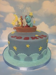 Iggle Piggle in his boat. In The Night Garden.