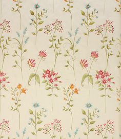 A very pretty floral fabric made from 100% linen. A great curtain fabric, also useful for blinds and cushions. Buy online or visit one of our fabric shops in Burford, Oxfordshire or Cheltenham, Gloucestershire - in the heart of the Cotswolds.