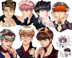 Find images and videos about bts, jungkook and v on We Heart It - the app to get lost in what you love. Bts Chibi, Anime Chibi, Neko, Bts E Got7, Hogwarts, Bts Drawings, Bts Fans, Kpop Fanart, About Bts