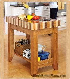 We want a butcher block island, debating whether it is cheaper to build or buy... Ill read later