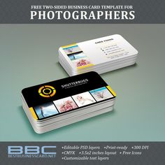 Free Two-Sided Business Card Template for Photographers
