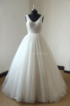 Heavy beading ivory blingbling tulle ball gown lace wedding dress by MermaidBridal on Etsy https://www.etsy.com/listing/227999136/heavy-beading-ivory-blingbling-tulle