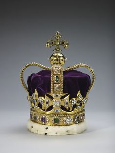 St Edwards Crown - Anne Boleyn is the only consort, before or since, to have been crowned with the St Edward crown, which is reserved for the actual monarch. On 1 June 1533, Anne was anointed, then this crown was placed on her, a spectre of gold was placed in her right hand, and a rod of ivory was placed in her left hand. She was basically crowned as regnant.