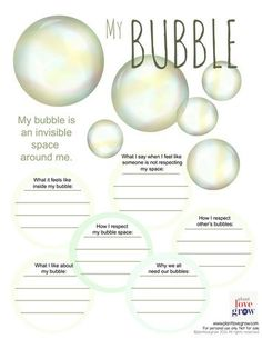 Self care - My Bubble - visualization & alternative thinking strategy for…