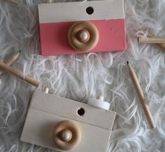 Aren't they adorable!?       I made these fun little cameras for Christmas gifts.  My little ones all want one of their own now!       ...