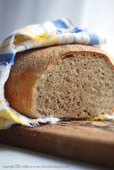 Trufla: Nocny chleb pszenny. Bardzo łatwy. Home Bakery, Our Daily Bread, Polish Recipes, Bread Rolls, How To Make Bread, Truffles, Bread Recipes, Banana Bread, Recipies