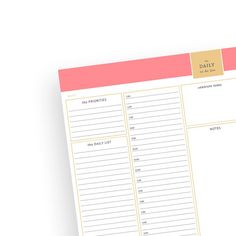 the Daily To Do List | 5am to10pm | Instant Download