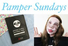 Pamper Sundays 6! A panda sheet mask!