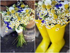 Hannah and Matthew's Yellow and Blue Homemade Wedding Complete With Red Squirrels. By Kat Timmins