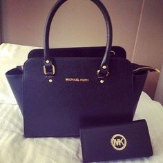 MK X Dark Purple X Gold |Handbags| Pinterest: @PaigeCamilla