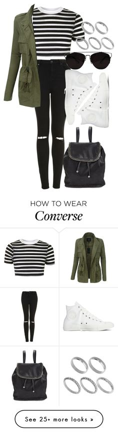 """""""Untitled #104"""" by voiceforfashion on Polyvore featuring STELLA McCARTNEY, Topshop, LE3NO, ASOS and Converse"""