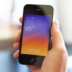 Fancy - Solar Weather App for iPhone