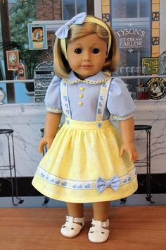 Jumper, Blouse and Headband for 18 Inch Dolls. $55.00