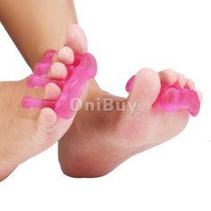 2pc Gel Toe Separator Spacers Straightener Alignment Bunion Foot Pain Relief #unbranded