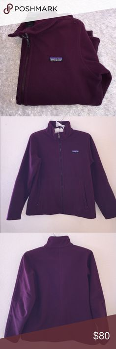 Patagonia Plum/Wine Zip Up Jacket Great condition, worn minimally. Size is a women's S. Fleece. Two zippered pockets. Feel free to ask any questions! X... Patagonia Jackets & Coats