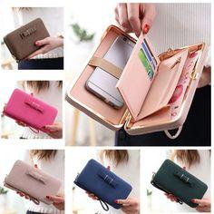 Universal Women PU Phone Wallet Purse 6.44'' Big for Iphone Redmi,Xiaomi,Samsung,Huawei - Gchoic.com #bags #women #fashion #discount #popular #wallet