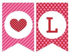 Banderines para San Valentín
