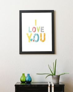 I Love You 11x14