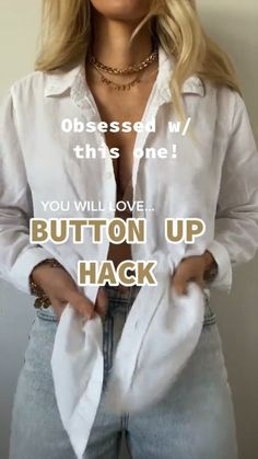 Diy Clothes Life Hacks, Diy Clothes And Shoes, Clothing Hacks, Outfits Con Camisa, Outfits Mujer, Diy Fashion Hacks, Fashion Outfits, Fashion Tips, Cute Casual Outfits