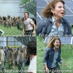 The Walking Dead Walking Dead Jokes, Walking Dead Pictures, The Walking Dead 3, Walking Dead Zombies, Z Nation, Twd Memes, Funny Memes, Funny Pics, Hilarious