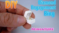 DIY Realistic Miniature Diamond Engagement Ring   DollHouse