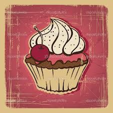 vintage cupcakes illustration - Google zoeken