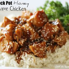 Sweet Hawaiian Crock Pot Chicken with pineapple juice, soy sauce, and brown sugar