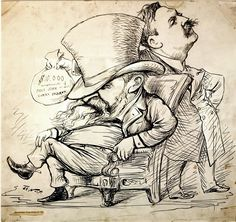 1888–Anti-Harrison Political Cartoon. This piece of rhetoric is from the 1888 election between Grover Cleveland and Benjamin Harrison. Harrison was a Republican from Indiana and Cleveland was a New York Democrat running for his second term in office.