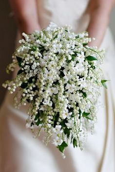 All White Wedding Bouquets Inspiration ★ See more: https://www.weddingforward.com/white-wedding-bouquets-inspiration/4