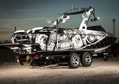 One of the best boat wraps I've ever seen! #Beautiful #Wakeboardboat