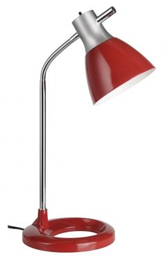 JAN - pracovná lampa červená Desk Lamp, Table Lamp, Modern, Lighting, Home Decor, Asylum, Light Fixtures, Red, Silver