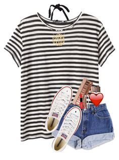 """""""...and i got that red lip classic thing that you like.."""" by evedriggers ❤ liked on Polyvore featuring Proenza Schouler, Urban Decay, NYX and Converse"""