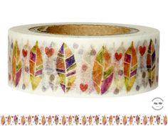 Masking Tape - Washi Tape FEDERN - ein Designerstück von Fitzi-Floet bei DaWanda