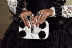 Pin for Later: These Are the Best Manicures From the Billboard Music Awards Red Carpet Janelle Monáe, Grammys Janelle's manicure gave off modern-art vibes.