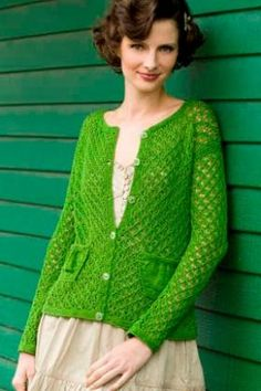 Кардиган зеленые рукава