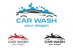 Car Wash Logo by aykutfiliz on @creativemarket