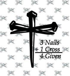 Excited to share this item from my shop: Cross - 3 nails SVG - Easter Cross Svg Design - Svg - Silhouette Design - Cross Silhouette Design, Cross Silhouette, Silhouette Cameo Projects, Easter Nail Designs, Cool Nail Designs, Easter Cross, Nail Art, Jesus On The Cross, Birthday Design