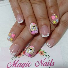 Kawaii Nail Art, Semi Permanente, Magic Nails, Manicure, Samara, Beauty, Work Nails, Short Nail Manicure, Nail Manicure