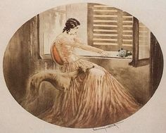 Hound Life: Vintage Sighthound Art.  Louis Icart.