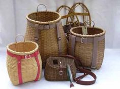 Adirondack Basketry ~ fishing creels & Pack baskets
