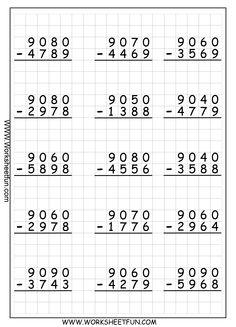 Multiplication Times Tables Worksheets