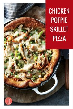 Chicken Pot Pie Pizza - Try this quick, playful spin to turn pizza night on its head—in a good way. You get all the creamy goodness of chicken potpie, in a fun, . Chicken Potpie, Chicken Pizza, Pizza Pizza, Pizza Dough, Cooking Light Recipes, Shredded Chicken Recipes, Healthy Recipes, Pizza Recipes, Healthy Eats
