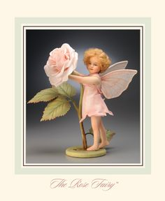 R. John Wright Presents: The Rose Fairy Doll from 'A Flower Fairy Alphabet' Collection - R. John Wright, Bennington, VT - The Rose Fairy