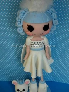 Lalaloopsy ivory ice crystals Party Favors Decorations Cold Porcelain - Biscuit https://www.facebook.com/BelaVitaCreationsbyIzabela