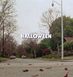 Now watching on AMC: Halloween, the original from 1978. John Carpenter said in an interview that they filmed in the middle of summer in California and that it was so hard to find crispy red maple leaves for this scene that once they yelled cut, everyone was told to go and chase after the ones that were blowing in the wind.