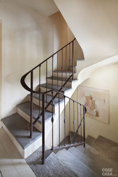 Stair Railing, Railings, Juliette Balcony, Classic House, Stairways, Neutral Colors, New Homes, Interior Design, Home Decor